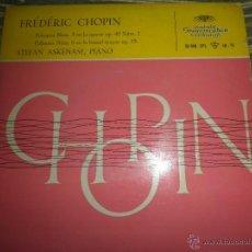 Discos de vinilo: FREDERIC CHOPIN - POLONESA NUM 3 - DEUTSCHE GRAMMOPHON 1958 - STEFAN ASKENASE PIANO. -. Lote 50297319