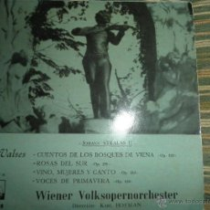 Discos de vinilo: JOHANN STRAUSS II - VALSES EP - ORIGINAL ESPAÑOL - LA VOZ DE SU AMO 1958 -. Lote 50297385