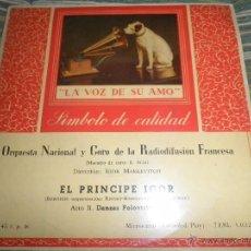 Discos de vinilo: ORQUESTA NACIONAL Y CORO DE LA RADIODIFUSION FRANCESA - EL PRINCIPE IGOR EP - ORIGINAL ESPAÑOL 1958 . Lote 50297944