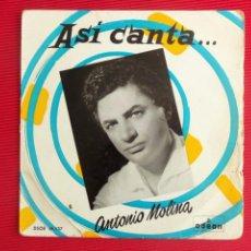 Discos de vinilo: ASÍ CANTA... ANTONIO MOLINA - LA ROSA DEL PENAL. Lote 50298920
