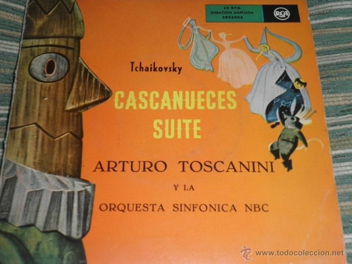 TCHAIKOVSKY - CASCANUECES SUITE DOBLE EP - ORIGINAL ESPAÑOL - RCA REORDS 1957 - GATEFOLD COVER - (Música - Discos de Vinilo - EPs - Clásica, Ópera, Zarzuela y Marchas)