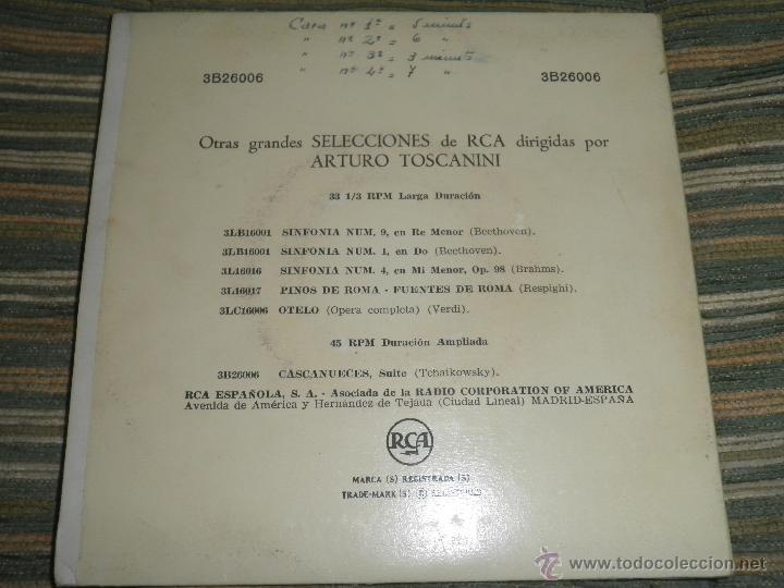Discos de vinilo: TCHAIKOVSKY - CASCANUECES SUITE DOBLE EP - ORIGINAL ESPAÑOL - RCA REORDS 1957 - GATEFOLD COVER - - Foto 2 - 50299066