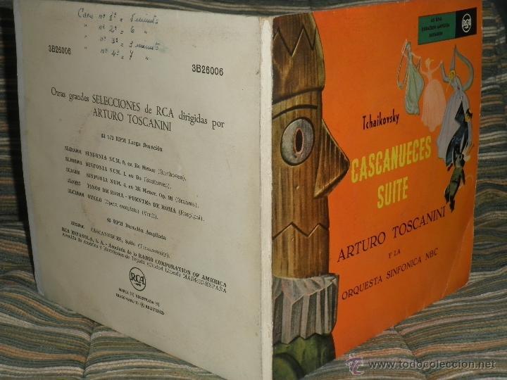 Discos de vinilo: TCHAIKOVSKY - CASCANUECES SUITE DOBLE EP - ORIGINAL ESPAÑOL - RCA REORDS 1957 - GATEFOLD COVER - - Foto 6 - 50299066
