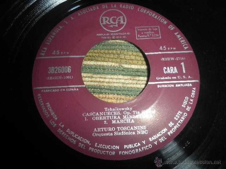 Discos de vinilo: TCHAIKOVSKY - CASCANUECES SUITE DOBLE EP - ORIGINAL ESPAÑOL - RCA REORDS 1957 - GATEFOLD COVER - - Foto 8 - 50299066