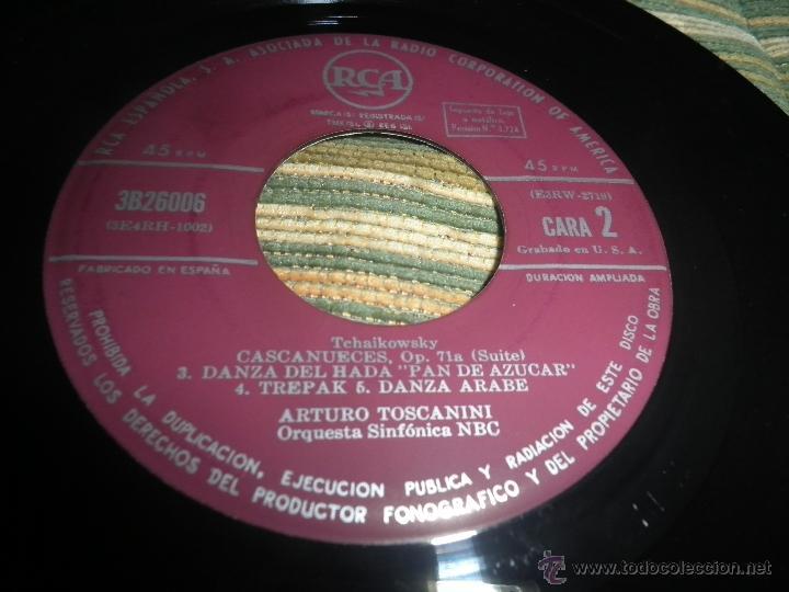 Discos de vinilo: TCHAIKOVSKY - CASCANUECES SUITE DOBLE EP - ORIGINAL ESPAÑOL - RCA REORDS 1957 - GATEFOLD COVER - - Foto 11 - 50299066