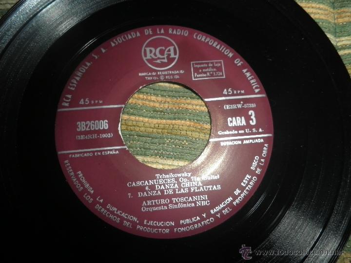 Discos de vinilo: TCHAIKOVSKY - CASCANUECES SUITE DOBLE EP - ORIGINAL ESPAÑOL - RCA REORDS 1957 - GATEFOLD COVER - - Foto 12 - 50299066