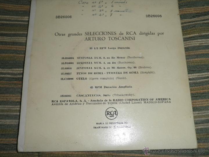 Discos de vinilo: TCHAIKOVSKY - CASCANUECES SUITE DOBLE EP - ORIGINAL ESPAÑOL - RCA REORDS 1957 - GATEFOLD COVER - - Foto 13 - 50299066