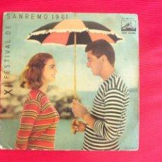 Discos de vinilo: XI FESTIVAL DE SAN REMO 1961 - BRUNO MARTINO Y SU ORQUESTA - PATATINA. Lote 50299906