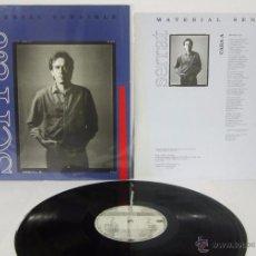 Discos de vinilo: JOAN MANUEL SERRAT - MATERIAL SENSIBLE - LP - ARIOLA 1989 SPAIN - LETRAS - VINILO MINT. Lote 50306531