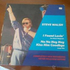 Discos de vinilo: STEVE WALSH. MAXI 12. Lote 50310217