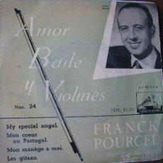 Discos de vinilo: FRANCK POURCEL. AMOR, BAILE Y VIOLINES. NÚM. 24. EP 7INCH..LA VOZ DE SU AMO 13.255. Lote 50310278