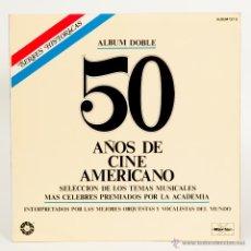 Discos de vinilo: 50 AÑOS DE CINE AMERICANO + 50 AÑOS DE MUSICA EN BROADWAY. Lote 50311567