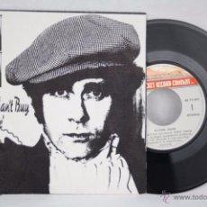 Discos de vinilo: DISCO SINGLE VINILO - ELTON JOHN. MAMA CAN'T BUY YOU LOVE / THREE WAY... - FONOGRAM - ESPAÑA, 1979. Lote 50319316