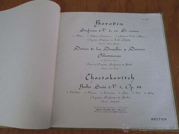 Discos de vinilo: BORODIN SINFONIA Nº2 DANZAS POLOVTSIANAS YDANZAS DE LAS DONCELLAS. CHOSTAKOVITCH SUITE DE BALLET Nº1 - Foto 4 - 50319437