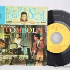 Discos de vinilo: DISCO EP VINILO - MARISOL. TÓMBOLA / CON LOS OJOS ABIERTOS... - MONTILLA / ZAFIRO - ESPAÑA, 1962. Lote 50319466