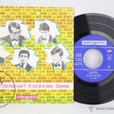 Discos de vinilo: DISCO EP VINILO - LOS SIREX. LA ESCOBA. ¡¡QUÉ HACES AQUÍ!! - VERGARA - ESPAÑA, 1966. Lote 50319898