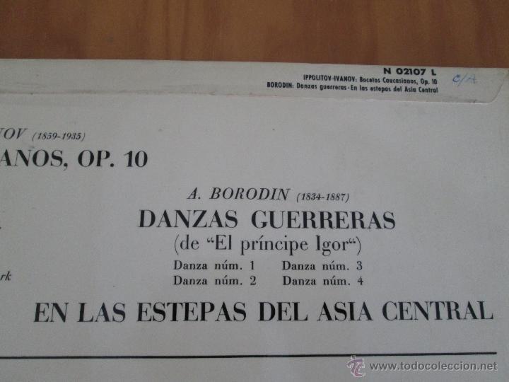 Discos de vinilo: DIMITRI MITROPOULOS. BORODIN DANZAS GUERRERAS EN LAS ESTEPAS DEL ASIA CENTRAL - Foto 4 - 50320672