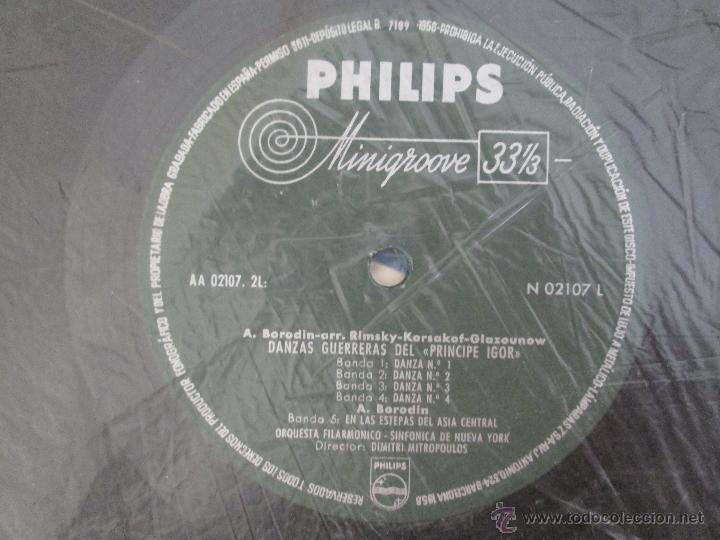Discos de vinilo: DIMITRI MITROPOULOS. BORODIN DANZAS GUERRERAS EN LAS ESTEPAS DEL ASIA CENTRAL - Foto 6 - 50320672