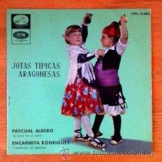 Discos de vinilo: JOTAS TÍPICAS ARAGONESAS - PASCUAL ALBERO Y ENCARNITA RODRÍGUEZ - 1962. Lote 50320788