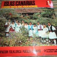 Discos de vinilo: AGRUPACION FOLKLORICA PUEBLO CANARIO - ISLAS CANARIAS 1 - EP ORIGINAL ESPAÑOL - DISCOPHON 1966 NUEVO. Lote 50320890