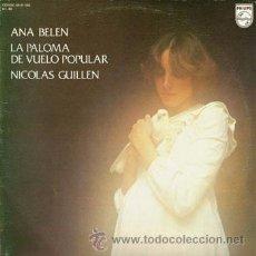 Discos de vinilo: ANA BELÉN - LA PALOMA DEL VUELO POPULAR - DOBLE LP - COMO NUEVO. Lote 50325569