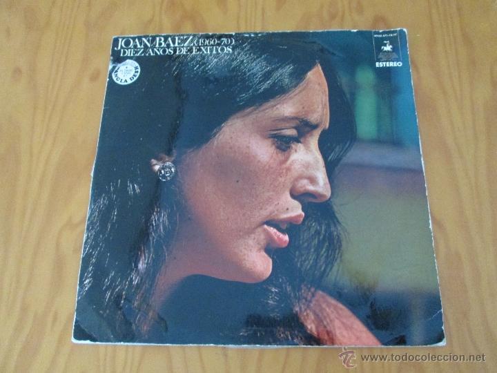 JOAN BAEZ ( 1960/70). DIEZ AÑOS DE EXITO. DOS DISCOS. HISPA VOX. (Música - Discos - Singles Vinilo - Cantautores Extranjeros)