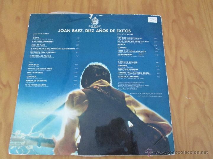 Discos de vinilo: JOAN BAEZ ( 1960/70). DIEZ AÑOS DE EXITO. DOS DISCOS. HISPA VOX. - Foto 12 - 50328233