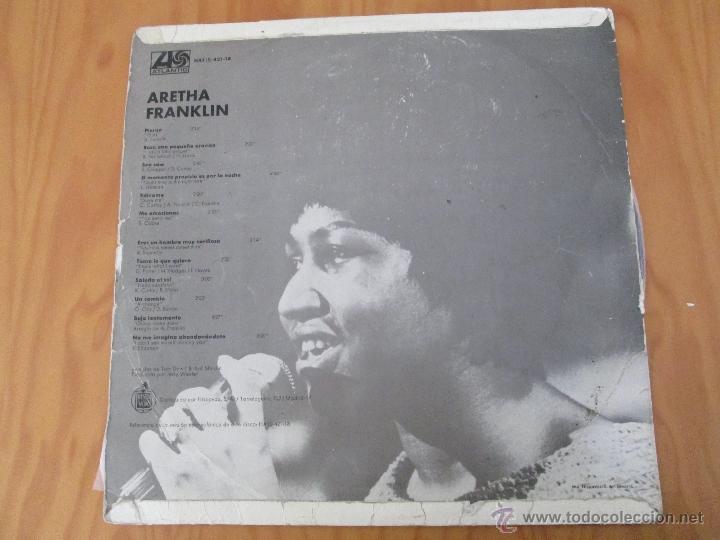 Discos de vinilo: ARETHA FRANKLIN. !AHORA! HISPAVOX, S.A. ATLANTIC HAT 421-18 - Foto 2 - 50328460