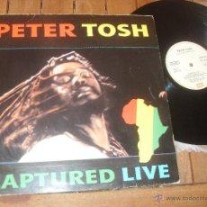 Discos de vinilo: PETER TOSH LP. CAPTURED LIVE. MADE IN SPAIN. 1984.. Lote 50331580