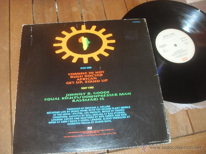 Discos de vinilo: PETER TOSH LP. CAPTURED LIVE. MADE IN SPAIN. 1984. - Foto 2 - 50331580
