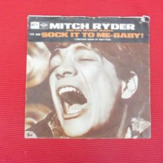 Discos de vinilo: MITCH RYDER AND THE DETROID WHEELS - SOCK IT TO ME BABY. Lote 50332184