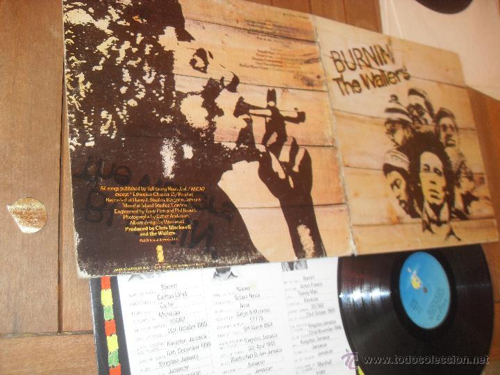Discos de vinilo: THE WAILERS. LP. BURNIN. MADE IN SPAIN. 1980. - Foto 4 - 50333263