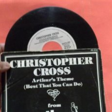 Discos de vinilo: DISCO SINGLE CRISTOPHER CROSS -- ARTHURS THEME (BEST THAT YOU CAN DO). Lote 50337781