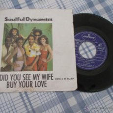Discos de vinilo: SOULFUL DYNAMICS. DID YOU SEE MY WIFE. BUY YOUR LOVE. Lote 50338658