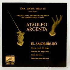Discos de vinilo: ATAULFO ARGENTA - 4 DISCOS - EL AMOR BRUJO - LA TORRE DEL ORO - LA REVOLTOSA - LA BODA DE LUIS ALONS. Lote 50343529