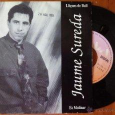 Discos de vinilo: JAUME SUREDA, LLIÇONS DE BALL + ES MOLINAR (ONA DIGITAL 1993) SINGLE - MIQUEL BRUNET MALLORCA. Lote 50344939
