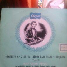 Discos de vinilo: OPUS 21 DE CHOPIN ELLEN BALLON PIANO. Lote 50346262