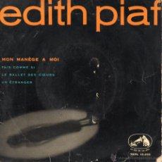 Discos de vinilo: EDITH PIAF, EP, MON MANÈGE A MOI + 3, AÑO 1959. Lote 50348717