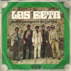 Discos de vinilo: LOS BETA SG MOVIEPLAY 1969 LLEGA EL DOMINGO/ IN THE TEAR 2525 BEAT POPSIKE MOD. Lote 53449561