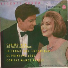 Discos de vinilo: EP-VICENTE PARRA CARIÑO MIO RCA 3185 SPAIN 1962. Lote 50351518