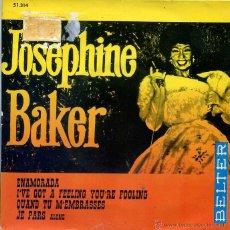 Discos de vinilo: JOSEPHINE BAKER / ENAMORADA / QUAND TU M'EMBRASSES + 2 (EP 1963). Lote 50354436