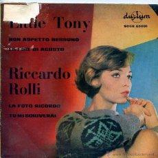 Discos de vinilo: LITTLE TONY / NON ASPETTO NESSUNO + 1 - RICCARDO ROLLI / LA FOTO RICORDO + 1 (EP 1964). Lote 50354763