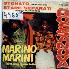 Discos de vinilo: MARINO MARINI / STONATO + 1 / LOS MARCELLOS FERIAL / EL CIGARRON + 1 (EP 1962). Lote 50355251