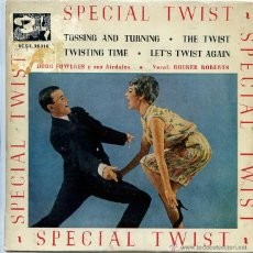 Discos de vinilo: DOUG FOWLKES Y SUS AIRDALES / TOSSING AND TURNING / THE TWIST + 2 (EP 1961). Lote 50365535