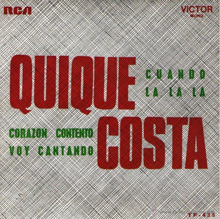 QUIQUE COSTA - EP 7'' - EDITADO EN PORTUGAL - LA LA LA (EUROVISON 1968) + 3 - RCA 1968 (Música - Discos de Vinilo - EPs - Solistas Españoles de los 70 a la actualidad)