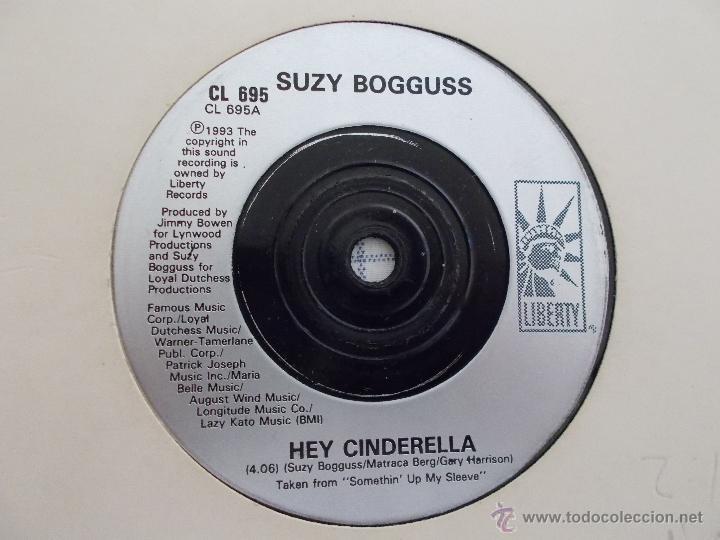 Discos de vinilo: SUZY BOGGUSS. HEY CINDERELLA.HEARTACHE - Foto 2 - 50370909