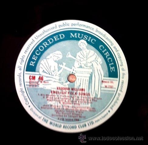 Discos de vinilo: ENGLISH FOLK SONGS - THE PURCELL SINGERS (Excelente estado) - Foto 2 - 50371716