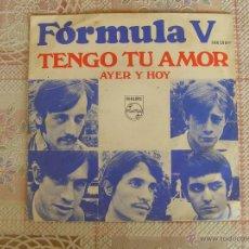 Discos de vinilo: FORMULA V - TENGO TU AMOR - 1968. Lote 108248354