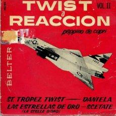 Discos de vinilo: PEPPINO DE CAPRI Y SUS ROCKERS / TWIST A REACCION VL II (EP 1962). Lote 50372345