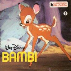 Discos de vinilo: CUENTODISCO BRUGUERA - WALT DISNEY, EP, BAMBI + 1, AÑO 1967. Lote 50372541